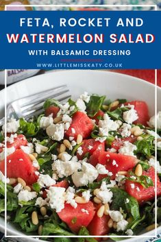 watermelon, feta and