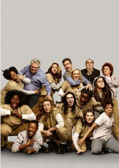 Orange Is The New Black Cast. One of the best shows to ever show.