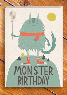 """Monster Birthday"" by paper cloth."