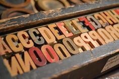 Cool, vintage letterpress letters available Sept 19-21, 2014 at www.chartreuseandco.com/tagsale, #letterpress, #letters, #vintageprinting