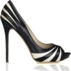Alexander McQueen black and white heels