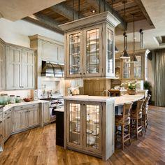 floor, cabinet colors, locati architect, glass, dream kitchens, island