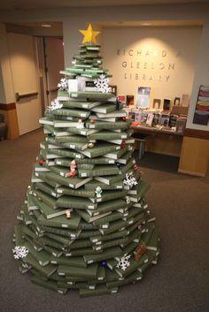 Christmas tree at Gleeson Library (via Things Organized Neatly).