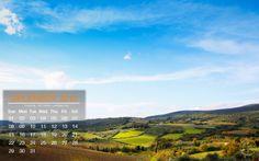 Beautiful Countryside of Tuscany - Desktop Calendar / Wallpaper Dec. 2013