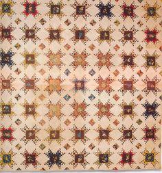 Pieced Star Quilt, 1850. Virginia.