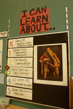 """I can learn about..."" with a laminated piece of poster-board for each grade.  Use dry erase markers to change the objective each week."