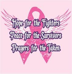 Please repin if you are a survivor or your life has been touched in some way by breast cancer.