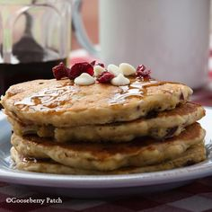 Gooseberry Patch Recipes: Cranberry Hootycreek Pancakes from 101 Breakfast & Brunch Recipes