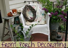 front porch decorating in 5 minutes or less