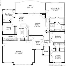 Open Ranch Style Floor Plans   Ranch Style House Plans   Backyard House Plans Floor Plans