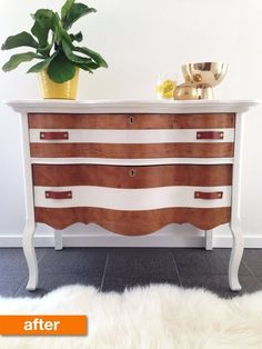Before & After: Karrie's Antique Dresser Rescue
