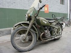 Military Motorcycle w/ Sidecar