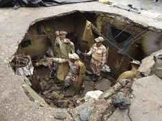 Indo-Tibetan Border Police (ITBP) personnel search for flood victims in a damaged house in Uttarkashi in Uttarakhand in this handout photo released on June 26, 2013. Posted by floodlist.com #floods #uttarakhand