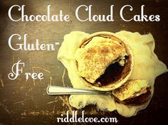 Easy Mini Chocolate Cloud Cakes ~ Naturally Gluten/Grain-Free Recipe.  Both Kids and Adults Love this Elegant Dessert!