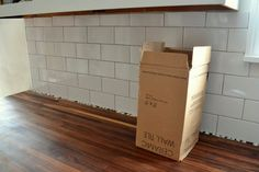 How to tile a kitchen backsplash (with subway tile... over drywall).
