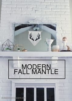 Lots of simple DIY projects make up this modern fall mantle. Find out how to create one for yourself!