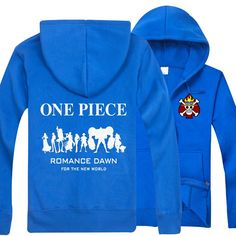 One Piece new One Piece letter in the back zip-up hoodie sweatershirt