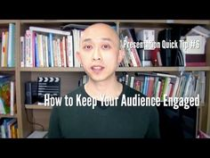 http://www.carlkwan.com In this video, you'll learn how to keep your presentation audience engaged and interested throughout your presentation. You'll learn what to do to prevent your audience from losing interest due to our naturally limited attention spans.     If you understand that people can only focus for a certain period of time, then you'l...