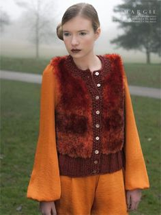 09 - Margie from #129 - Luzia by Louisa Harding at KnittingFever.com Fur continues to be a big trend for Fall/Winter 2014