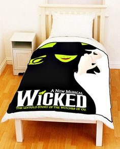 WICKED New Musical Broadway Witches of OZ Fleece Blanket Bed Throw Ideal Gift Size 50 x 60. $35.00, via Etsy.