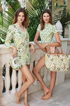 Earth meets sea — in the form of tunics, surf shirts, espadrilles, beach totes and more | Tory Burch Summer 2014