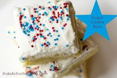4th of July Desserts: Sugar Cookie Bars