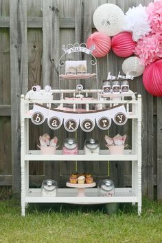 Great dessert table in a changing table! #baking #desserttable