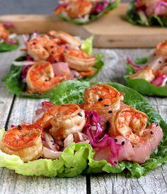 Shrimp Lettuce Wraps Recipe - RecipeChart.com