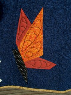 Free Monarch Butterfly pattern from ButterflyAngels Quilts, a bonus to her Lazy Daisy pattern shared during the Paper Pieced Pattern-A-Day Garden Party Blog Hop!