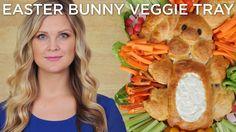 Easter Bunny Veggie Tray! Tutorial by YouTuber HeyKayli