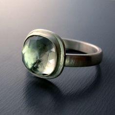 Green Amethyst Ring By Lisa Hopkins Design