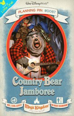 Walt Disney World Planning Pins: Country Bear Jamboree