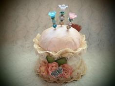 Altered Pin Cushion with Stickpins