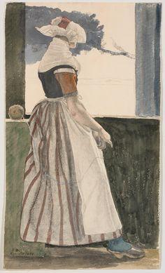 Girl's #folkdress #Salling #Denmark - November 1849