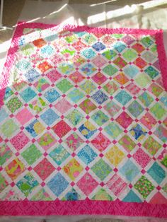 Down To Sew: Jessica's Lilly Pulitzer Sampler