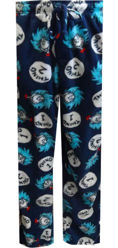 WebUndies.com Dr. Seuss Thing One and Thing Two Fleece Lounge Pants