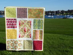 Quilting from a different perspective - good way to use some fave fabric scraps in larger pieces.