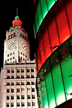 A Festive Wrigley Building