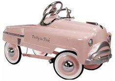 Pink retro pedal car - training wheels for the future