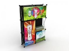 Love this quick and easy pop-up from Classic Exhibits ... it even includes a product display shelf! (Click the link to see more views of this design.)