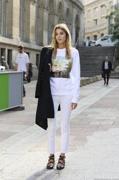 white cropped jeans with black flats