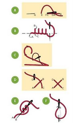 puntadas para coser en fieltro