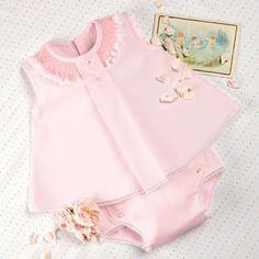Smocked diaper shirt and panties