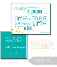 september 2014 LDS visiting teaching printable message #sharegoodness #inspiration