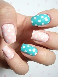 Pastel Polka-Dot #Nails