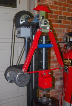 """Fred Connell's interesting mechanical power hammer build. Modeled after the origninal """"tire hammer"""" by Ray Clontz  Link live 3-23-13"""