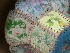 Vintage Greeting Card Basket $22.00, via Etsy.