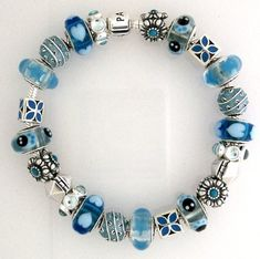 beauti shade, pandorabracelet, fav color, pandora bracelets, blue pandora bracelet, pandora charms blue, blue joy