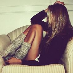 high socks for lounging around