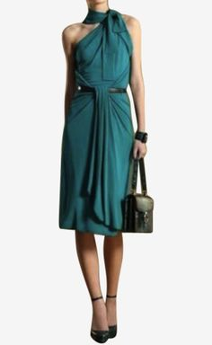 Gucci Teal Dress